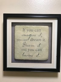 black wooden framed quote wall decor Lafayette, 70503