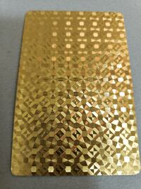 Gold plated cards