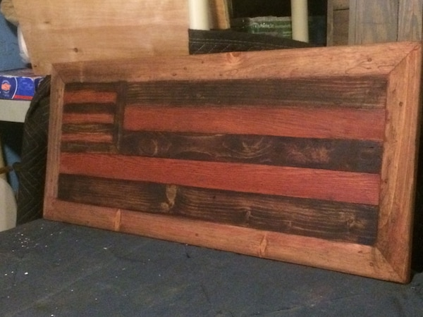 USA Recycled Distressed Wooden Flag