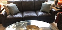 leather sofa  set brown 3+2  Sammamish, 98075