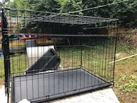 Black metal folding dog cage Arlington, 22204