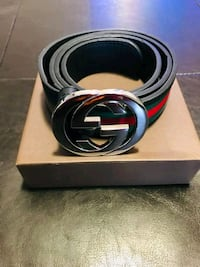 black Gucci leather belt with box Toronto, M8Z 4P5