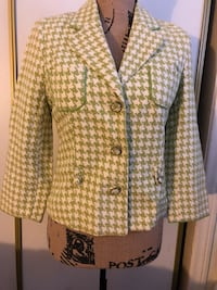 yellow and white houndstooth blazer Los Angeles, 90016