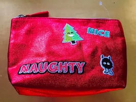 BRAND NEW NAUGHTY Or NICE Cosmetic Bag, Small Clutch Or Case
