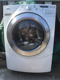 White Whirlpool front-load clothes washer Mississauga, L4W 3T4