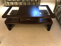 rectangular brown wooden coffee table Triangle, 22172