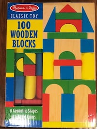 Melissa & Doug 100 wooden blocks Poway, 92064