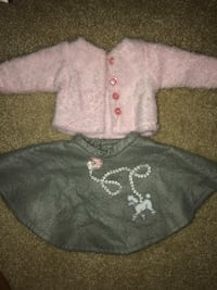 Fluffy pink jacket and poodle skirt for American girl dolls Charleston, 29414