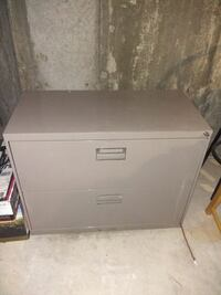 Metal filing cabinet with two drawers  Cambridge, N1T 1K9