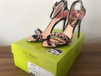 Ted baker heels black floral with copper detail  Vaughan, L6A 1E8