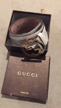 black and gray Gucci belt with box Germantown, 20874