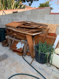 Free old cabinet woods. You need to haul all of it