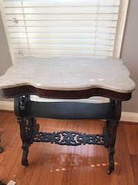 Vintage marble top table  Haymarket, 20169