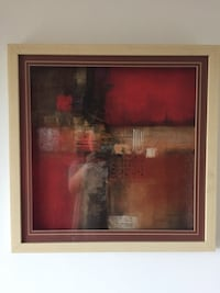 Black and red abstract painting Delta, V4C 3B8