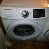 white Samsung front-load clothes washer 27 mi