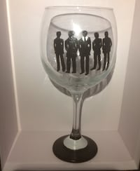 Premium Groomsmen Decorative Wine Glass
