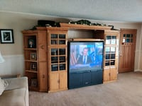 FREE  Oak entertainment center and tv