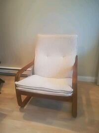 white and brown wooden armchair Richmond, V6Y 4J6