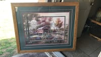 brown wooden framed painting of house Fayetteville, 72701