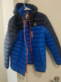 Gerry blue and black zip-up bubble jacket Calgary