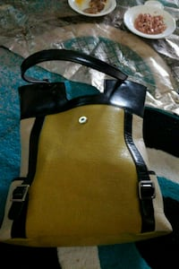 brown and black leather tote bag Edmonton, T5G 1X6