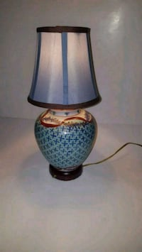Blue Lamp with matching shade