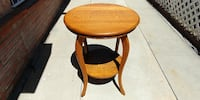 Antique Solid Oak Parlor Table by Wolverine Mfg.-Detroit Whittier