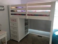Girls white bunk bed with storage Freehold, 07728