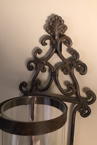 "Wrought Iron/Glass Wall Sconce 28"" h candle holder Brampton, L7A 3V6"