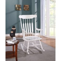 Pier One White Rocking Chair (2 years Old) Barely used Willow Grove, 19090