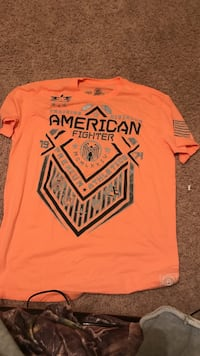 Orange and black american fighter crew-neck t-shirt Benton, 72015