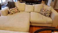 Sofa with chaise lounge (Beige) Manassas