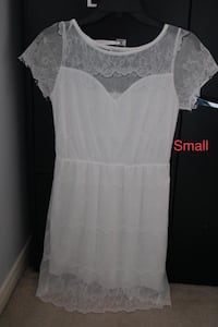 women's white sheer dress