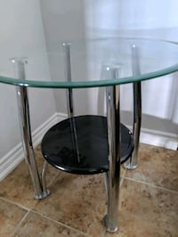 Two Glass Side Tables for SALE $50 for two Toronto, M9M 0B8