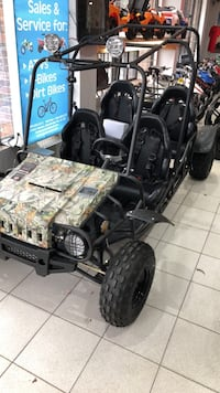 black and blue dune buggy