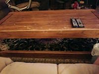 Coffee table and 2 end tables. Solid oak, needs refinishing.  Chesapeake, 23322