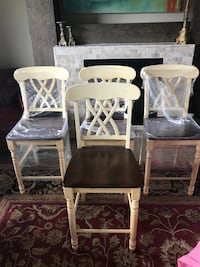 Four off-white wooden bar chairs Columbia, 65201