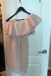 H&M blush pink one shoulder ruffle summer dress size small 4 Toronto, M9C 1B8
