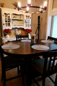 rectangular brown wooden table with six chairs din College Grove, 37046