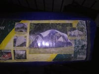 blue and white dome tent bag