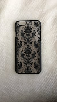 black and gray floral iPhone case