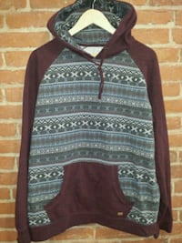 brown and black tribal print sweater St. Catharines, L2R 3M2