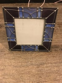 Stained glass picture frame blue/purpley color 3x3  Springfield, 22153