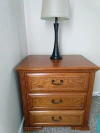 Pair of solid wood 3 drawer nightstands Arlington