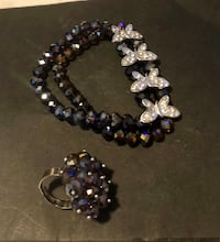 Purple bracelet and matching ring NEW!  Tampa, 33604