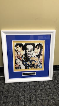 MICK JAGGER & RON WOOD ROLLING STONES SIGNED 12X12 PHOTO SLEEVE MATTED & FRAMED Levittown, 11756