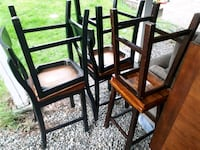 Dining room table and chairs +stools Surrey, V3R 5B6