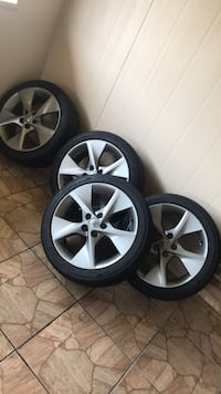 four gray 5-spoke vehicle wheels and tires Jacksonville, 32246