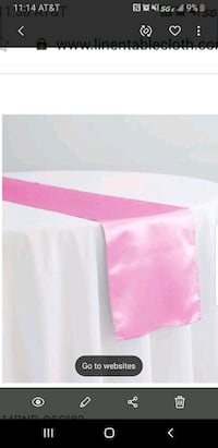 14x108 Satin Table Runners Shelby County