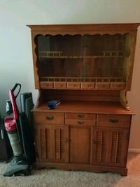 brown wooden desk with hutch Falls Church, 22043